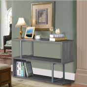 Topeakmart 3 Tier Wood Sofa Side Console Table S Shaped Bookcase Display Shelving Unit