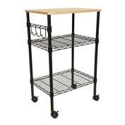 Mainstays Kitchen Cart, Black Finish