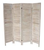 Milton Greens Stars Finn Standard 4-Panel Room Divider, Natural