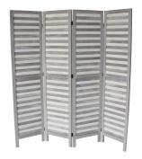 Milton Greens Stars Finn Standard 4-Panel Room Divider, Grey