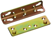 13cm - 0.5cm No Mortise Bed Rail Hinges Fittings Fasteners - 4 Sets