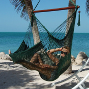 Large Caribbean Hammock Chair - 120cm - Polyester - Hanging Chair - green