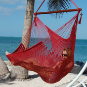 Large Caribbean Hammock Chair - 120cm - Polyester - Hanging Chair - red