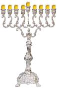 Majestic Giftware MN-HA19381B Hanukkah Menorah, 44cm , Silver Plated