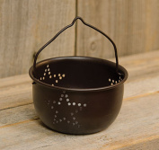 Mini Punched Star Colander Black Rustic Primitive Country Metal Kitchen Decor - Decorative - Perfect to hold Tea Light