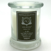 Aquiesse Portfolio Collection Embers Scented Candle Notes of Indian Saffron Cardamom Leather Tobacco Olibanum and Musk