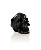 Candellana Candles Small Skull Candellana Candle, Black High Glossy