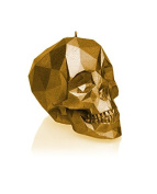 Candellana Candles Skull Poly Candle, Gold