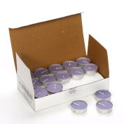 Hosley Pack of 30 Lavender Tea Light Candles. Hand Poured Using a Wax Blend with Essential Oil Fragrance. Ideal Gift for party favour, weddings, Spa, Reiki, Meditation, Bathroom