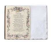 Wedding Collectibles Poetry Hankie to My Daughter (From the Bride's Mother) Wedding Handkerchief