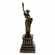 Kloud City Vintage Antique Colour Classic Home Desk Table Decoration, Replica , Figurine , Collectible Arificial World Famous Buildings Sculpture (15cm Statue of Liberty