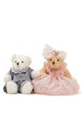 Wedding Teddy Bears Just Married Bear Couple Newlyweds Sitting Plush Toy Set 15cm