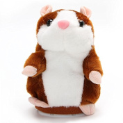 Jili Online Soft Plush Talking Hamster Toy Nodding Chat Buddy Mouse Pet, Can Repeats What You Say, 15cmx10cm - Light Brown, 15x10cm