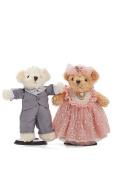 Wedding Teddy Bears Just Married Bear Couple Newlyweds Stuffed Animals Toy Set 25cm