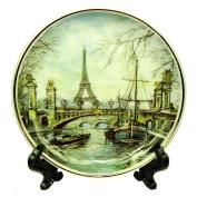 Souvenirs of France - Paris Eiffel Tower Mini Plate in Porcelain