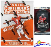 2017 Panini Contenders NFL Football Draught Picks EXCLUSIVE Factory Sealed Retail Box with TWO(2) AUTOGRAPHS Plus BONUS 2016 Leaf Football Pack! Look for Autographs of Fournette, Watson & More! WOWZZER!