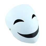YUFENG Resin Masks Halloween Collector Props The Film Theme Black Bullets Hiruko Smiley Mask