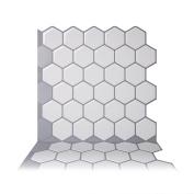Tic Tac Tiles - Premium Anti-mould Peel and Stick Wall Tile in Hexa Mono White