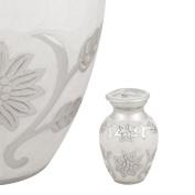 Perfect Memorials Pearl Blossom Brass Keepsake Cremation Urn