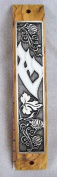 Olive Wood Mezuzah with Scroll by YourHolyLandStore