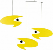 Flensted Mobiles Stella Nova Yellow Hanging Mobile - 46cm Plastic