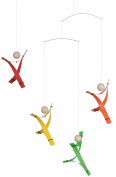Free Minds Rainbow Hanging Mobile - 43cm Plastic - Handmade in Denmark by Flensted