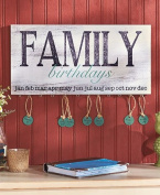 Wood Family Birthday Plaque. Wonderful Way to Keep Track of Family Birthdays. Country Style Plaque.