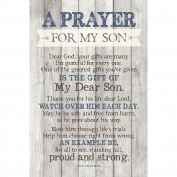 Prayer For My Son…New Horizons Wood Plaque with Easel