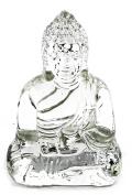 Crystal Clear Tibet Buddha Meditating Peace Harmony Polystone Statue, 11cm Inches