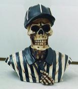 7.6cm Resin Sports Referee Skull Skeleton Bust Figurine Statue