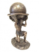 Greek Titan Atlas Carrying the World Statue