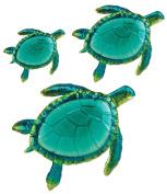Comfy Hour Coastal Ocean Sea Turtles Wall Art Decor Set