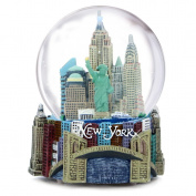 "Musical New York City Snow Globe, 100mm New York City Snow Globes, 5.5 Inches Tall, PLAYS ""NEW YORK, NEW YORK"""