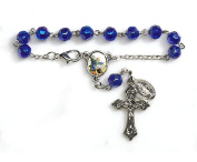 St. Michael Rearview Mirror Car Rosary Prayer Beads Auto Travel Protection Medal and Blessing