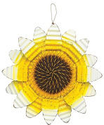 Corrugated Metal Fall Flower Hanging Decoration - Autumn Door Decor