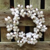 Flora Décor Vintage Faux Cotton Wreath 36cm
