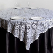 Efavormart 180cm x 180cm JOLLY GOOD Lace Table Table Overlay - White