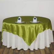 Efavormart 230cm SATIN Square Table Overlay For Wedding Catering Party Table Decorations SAGE GREEN