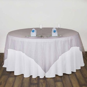 Efavormart Pink Organza Table Overlay 230cm x 230cm