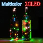 LED Light ,Lavany® 4PCS Solar Wine Bottle Cork Shaped String Light 10 LED Night Fairy Light For Xmas Wedding Party Garden Decor