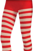 Women's Striped Red White Striped Stockings Costume Accessory