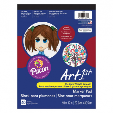"Art1st® Marker Pad, 9"" x 12"", 40 Sheets, Acid Free"