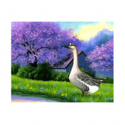 UHBGT Full Drill Swan DIY Artificial Diamond Embroidery Cross Stitch Painting Decor