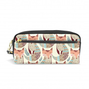 My Daily Vintage Fox Pencil Case Pen Bag Pouch Coin Purse Cosmetic Makeup Bag