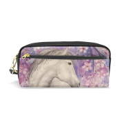 My Daily Unicorn with Flower Pencil Case Pen Bag Pouch Coin Purse Cosmetic Makeup Bag