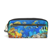 My Daily Sea Fish Pencil Case Pen Bag Pouch Coin Purse Cosmetic Makeup Bag