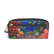 My Daily Fish and Sea Coral Pencil Case Pen Bag Pouch Coin Purse Cosmetic Makeup Bag