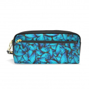 My Daily Blue Butterfly Pencil Case Pen Bag Pouch Coin Purse Cosmetic Makeup Bag