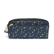 My Daily Colourful Stars Navy Pencil Case Pen Bag Pouch Coin Purse Cosmetic Makeup Bag