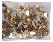 AM Drop Shape Crystal Edged Golden Stones/Kundans For Jewellery Making/Decorating & Crafts. Pack Of 400 Stones - Golden